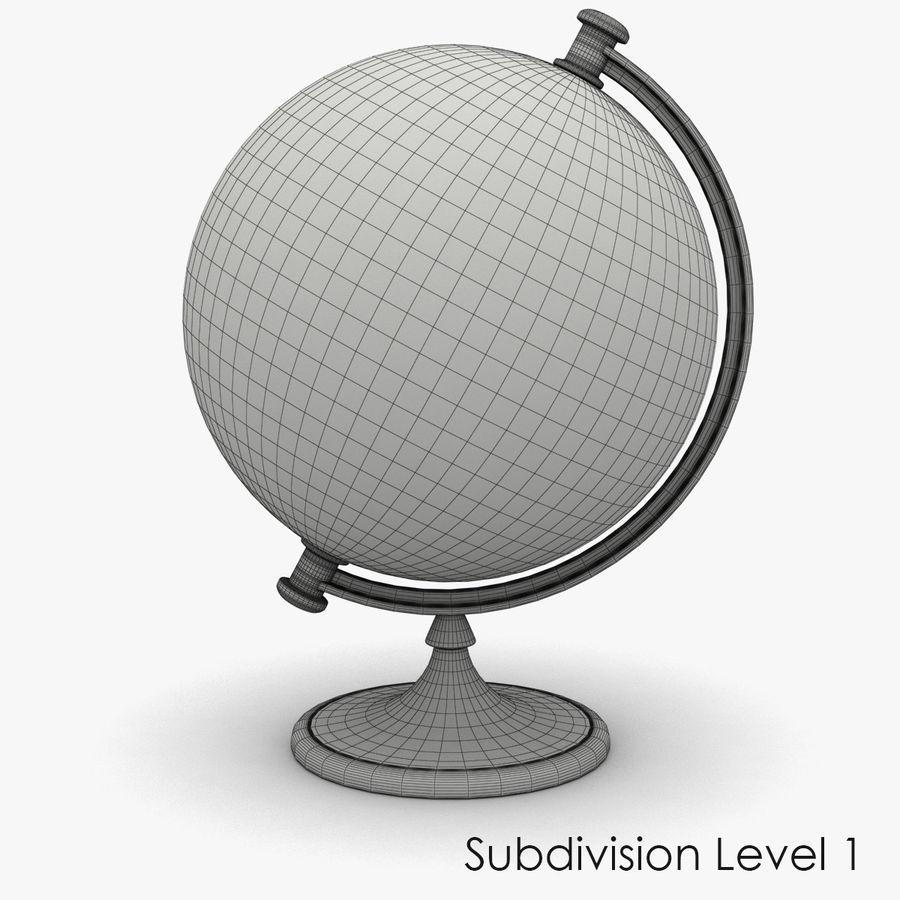 Rotating globe royalty-free 3d model - Preview no. 11