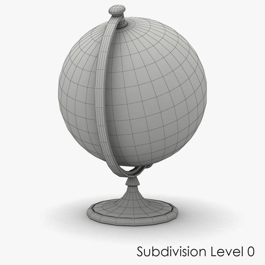 Rotating globe royalty-free 3d model - Preview no. 8