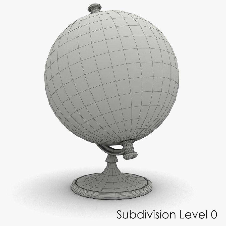 Rotating globe royalty-free 3d model - Preview no. 7