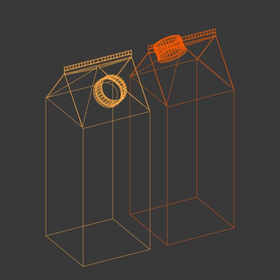 Milk Carton royalty-free 3d model - Preview no. 4