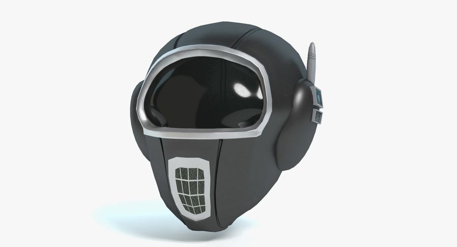 Scifi Helmet royalty-free 3d model - Preview no. 2