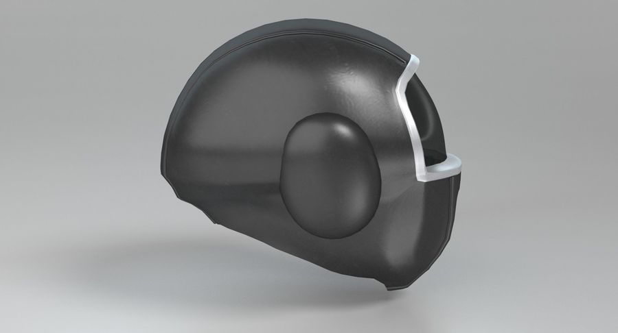 Scifi Helmet royalty-free 3d model - Preview no. 6