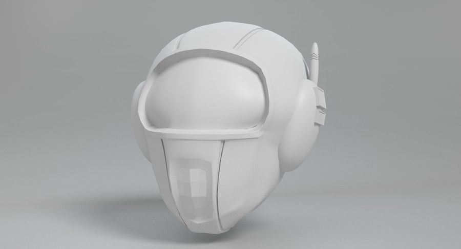 Scifi Helmet royalty-free 3d model - Preview no. 9