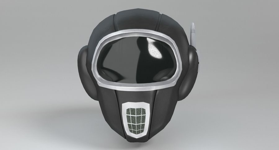 Scifi Helmet royalty-free 3d model - Preview no. 4