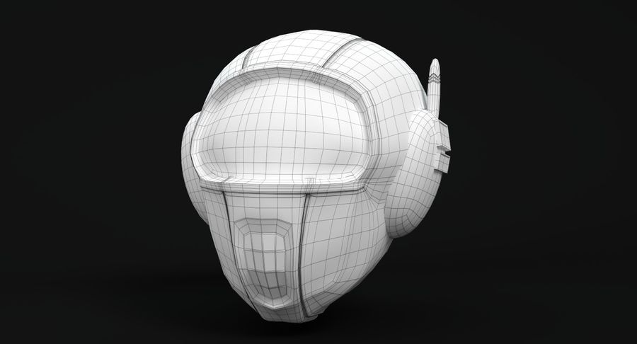 Scifi Helmet royalty-free 3d model - Preview no. 10
