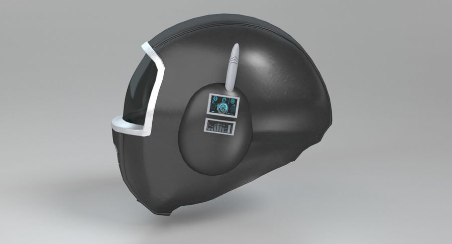 Scifi Helmet royalty-free 3d model - Preview no. 7