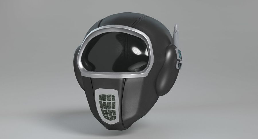 Scifi Helmet royalty-free 3d model - Preview no. 3