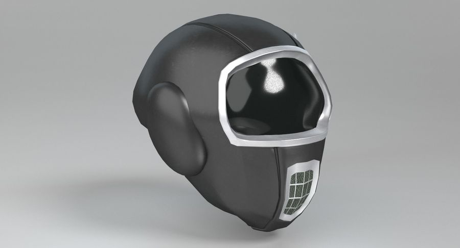 Scifi Helmet royalty-free 3d model - Preview no. 5