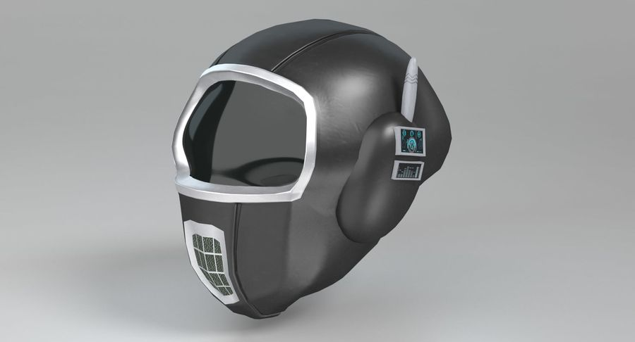 Scifi Helmet royalty-free 3d model - Preview no. 8