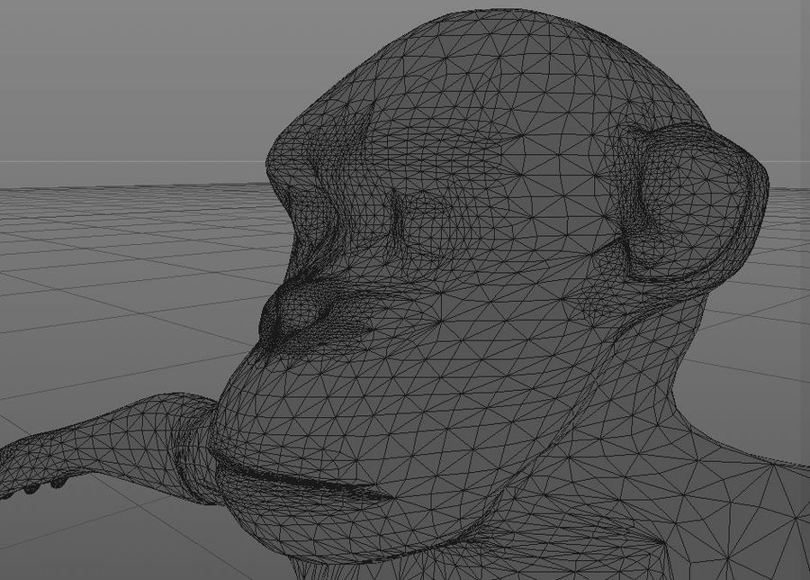 Chimpanzee royalty-free 3d model - Preview no. 5