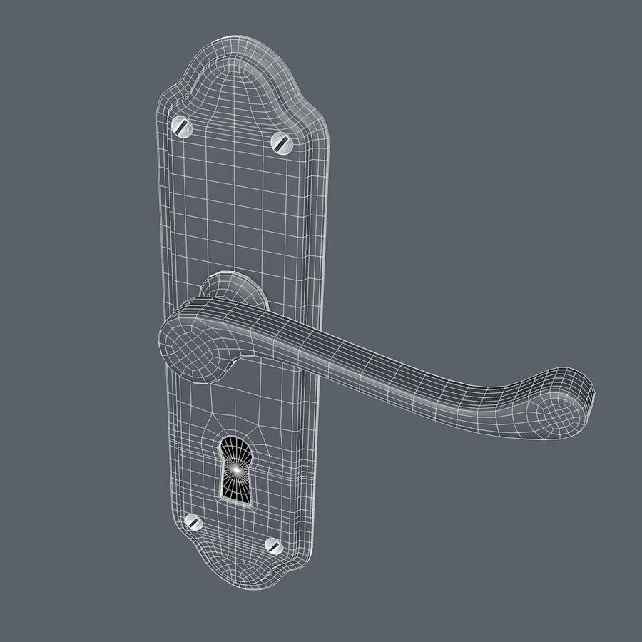 Door Handle royalty-free 3d model - Preview no. 7