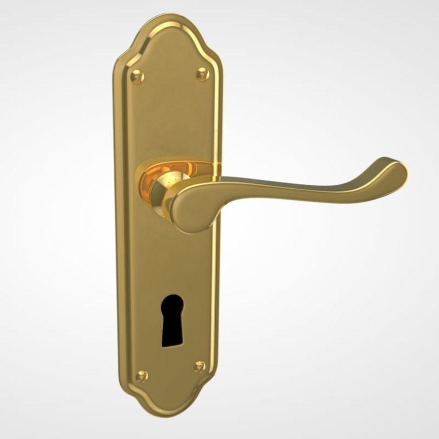 Door Handle royalty-free 3d model - Preview no. 3