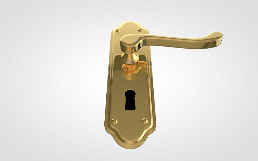 Door Handle royalty-free 3d model - Preview no. 5