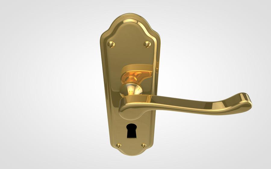 Door Handle royalty-free 3d model - Preview no. 4
