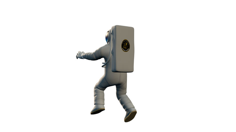Astronaut royalty-free 3d model - Preview no. 4