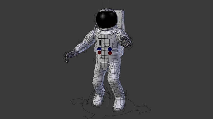 Astronaut royalty-free 3d model - Preview no. 5