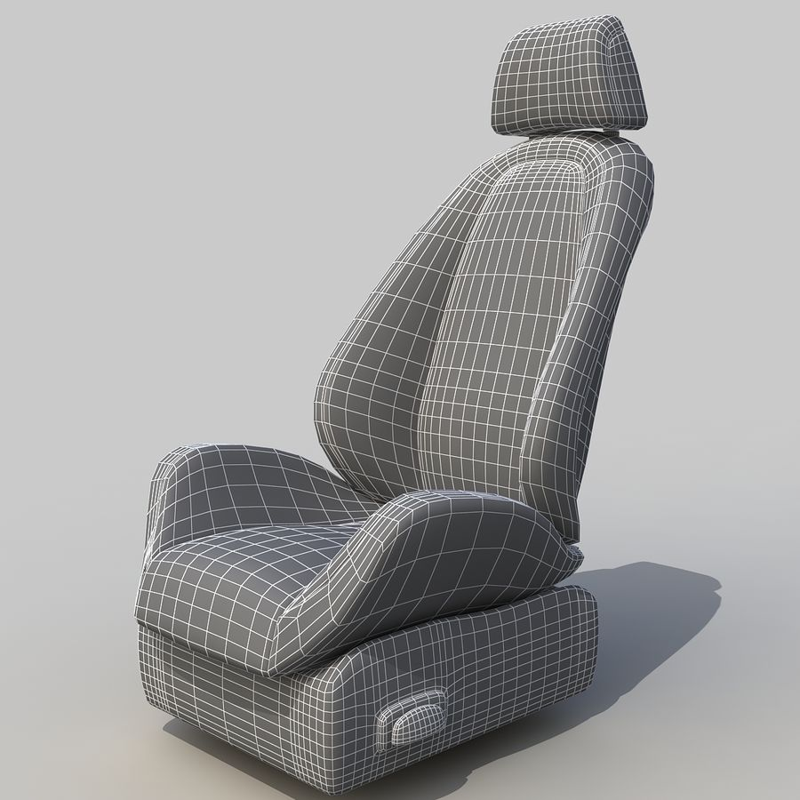 Car seat royalty-free 3d model - Preview no. 7