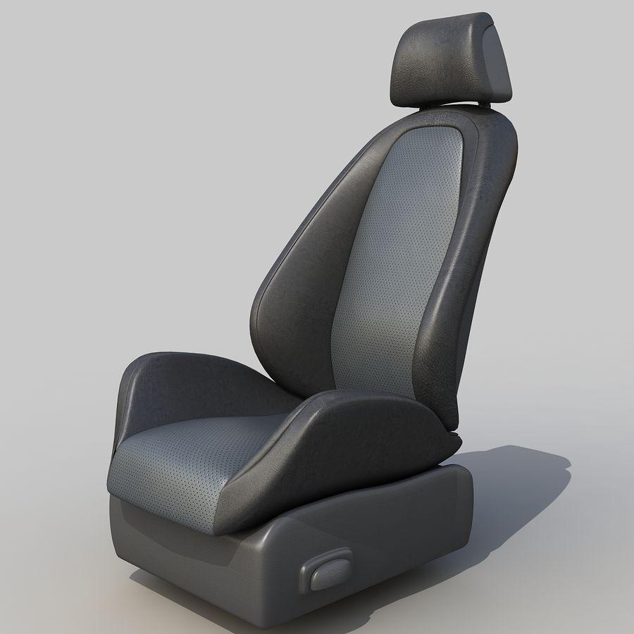 Car seat royalty-free 3d model - Preview no. 1