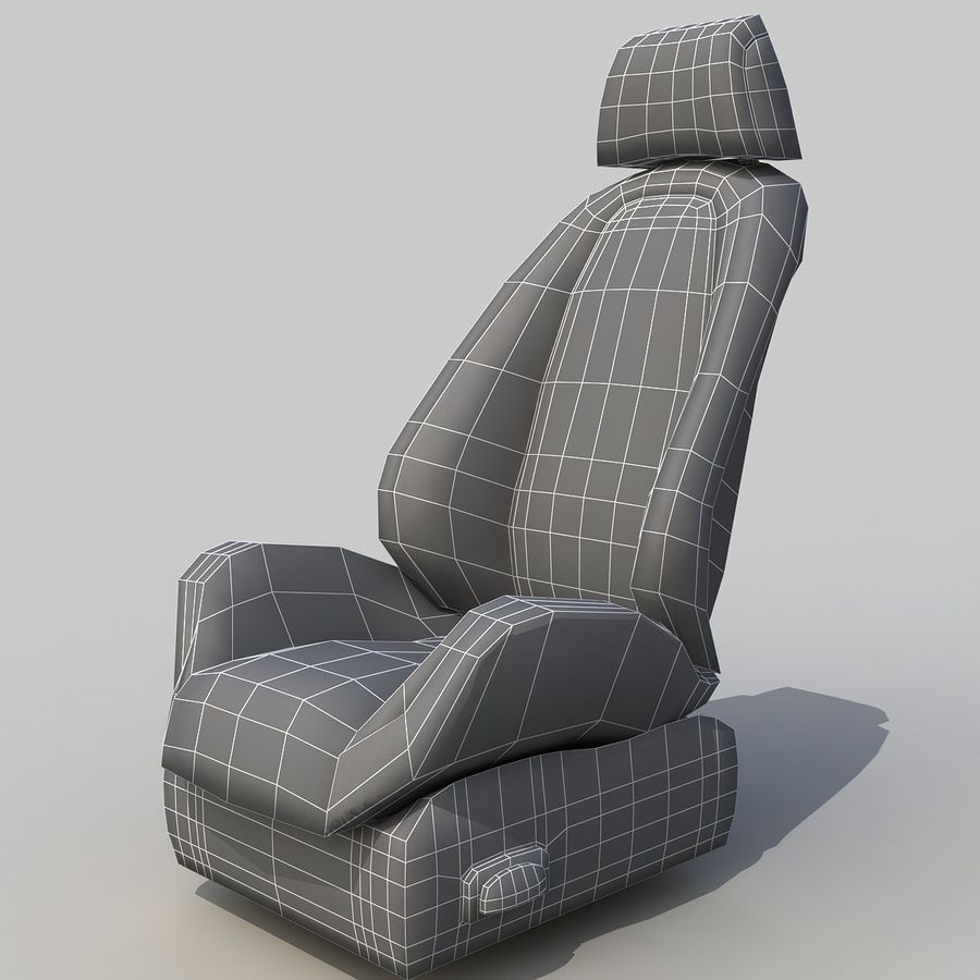 Car seat royalty-free 3d model - Preview no. 6