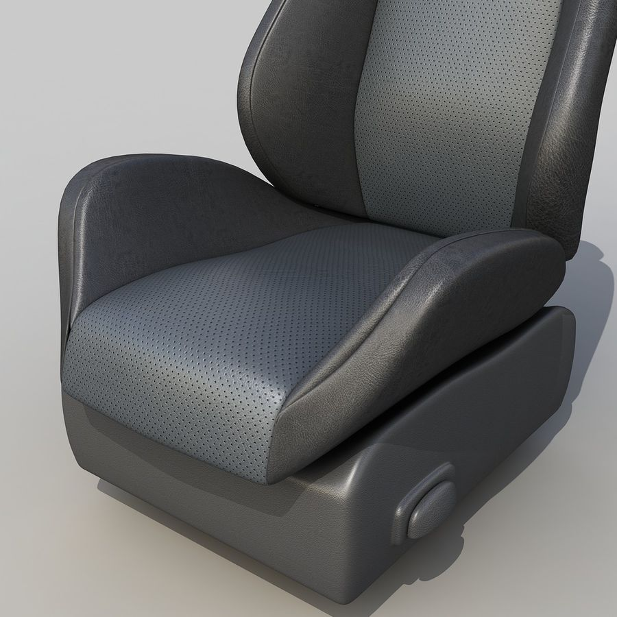 Car seat royalty-free 3d model - Preview no. 2