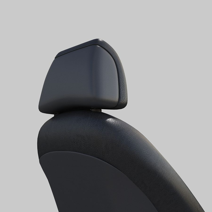 Car seat royalty-free 3d model - Preview no. 3