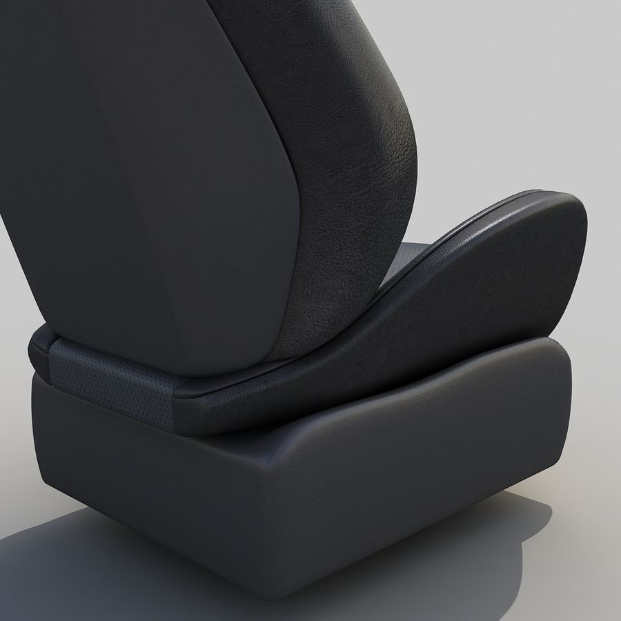 Car seat royalty-free 3d model - Preview no. 4