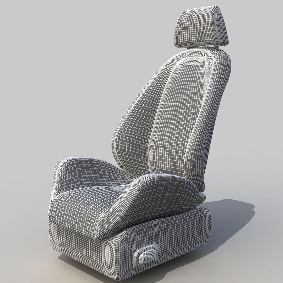 Car seat royalty-free 3d model - Preview no. 8
