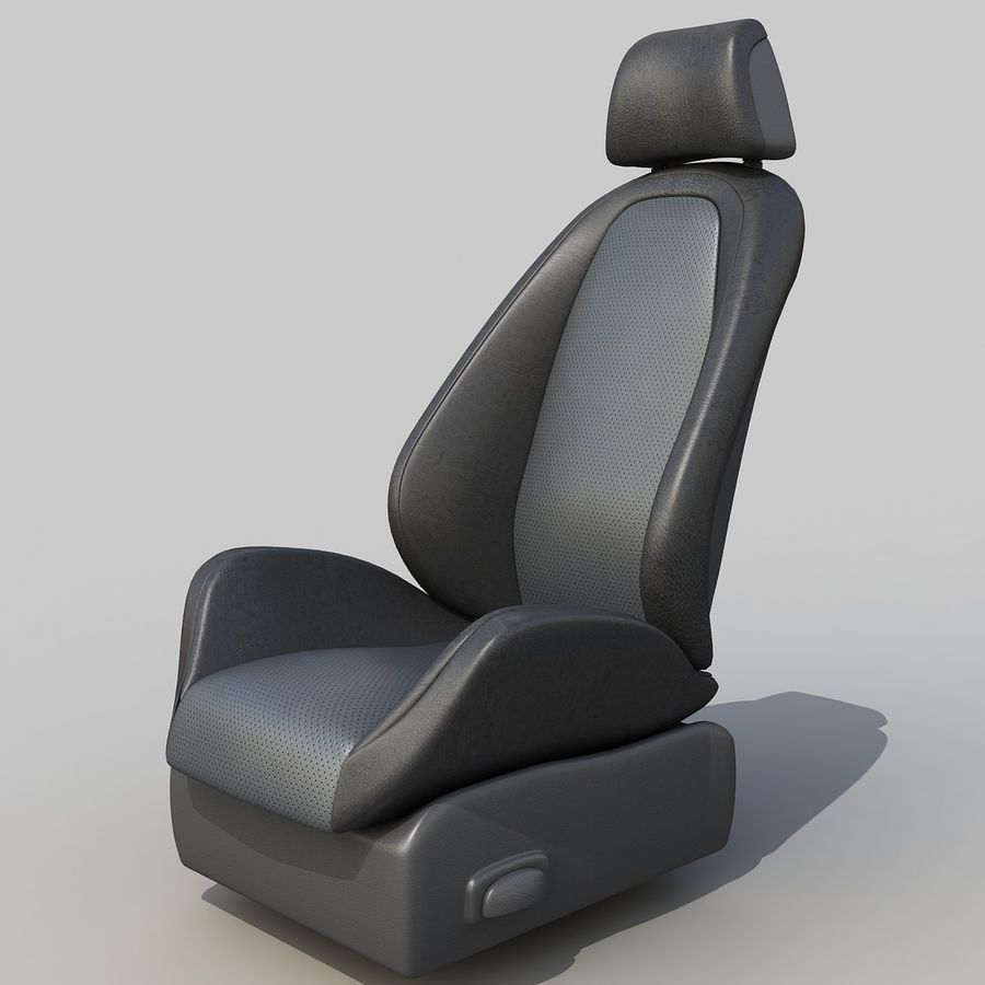 Car seat royalty-free 3d model - Preview no. 1
