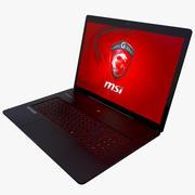 MSI GS70 2QE Black Laptop 3d model
