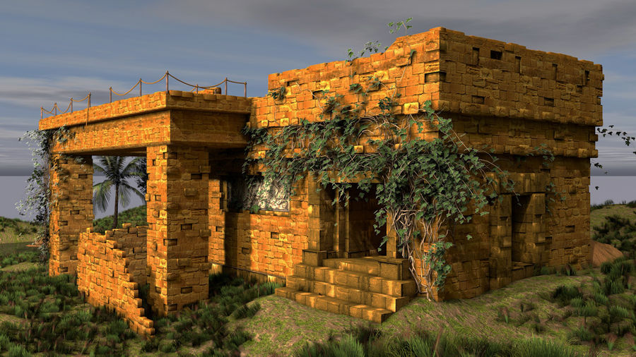tempel royalty-free 3d model - Preview no. 3