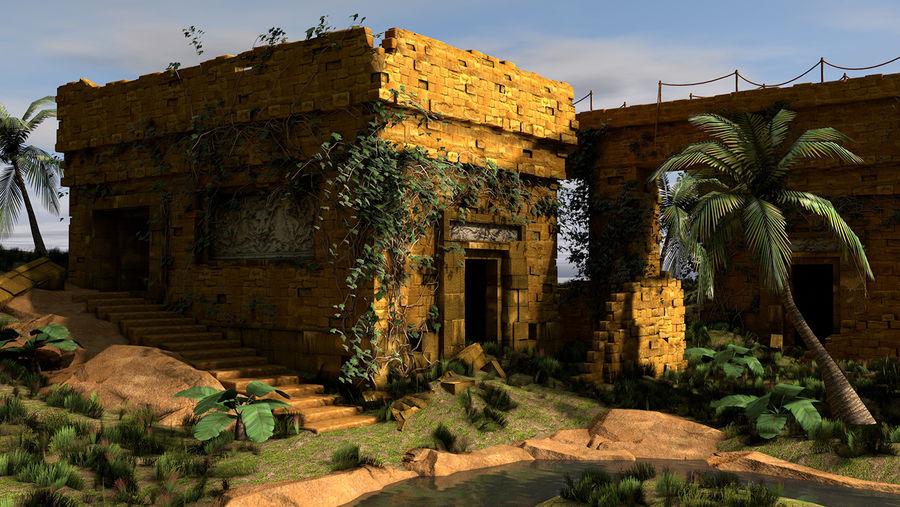 tempel royalty-free 3d model - Preview no. 1