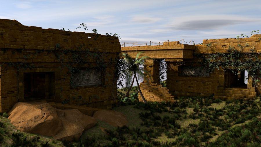 tempel royalty-free 3d model - Preview no. 2