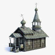 Russian Village Church 02 LOD 3d model