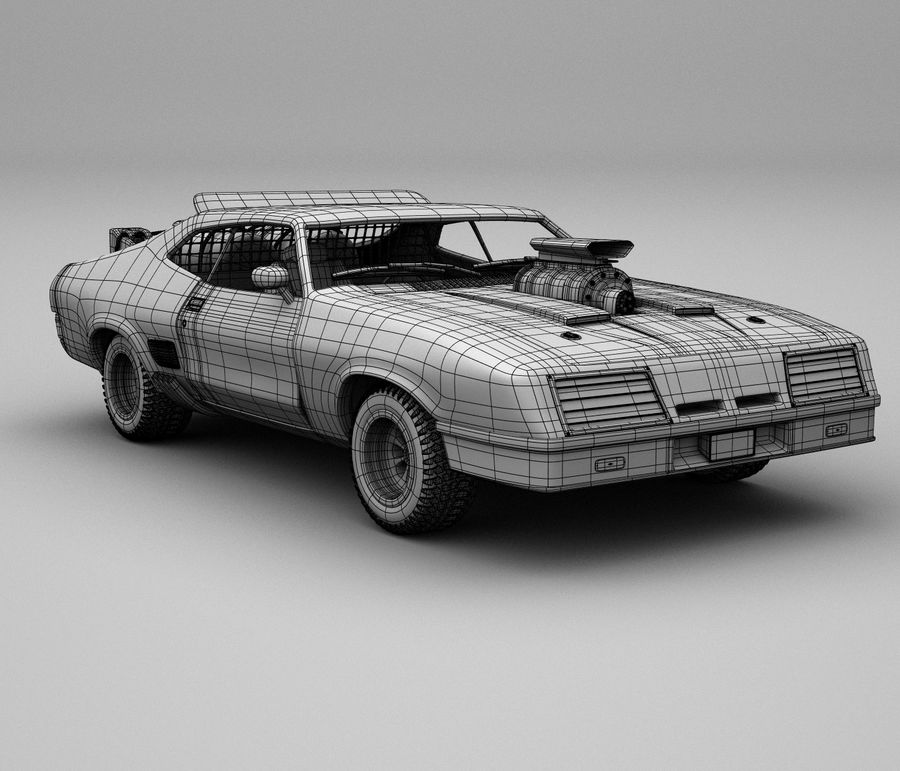 Mad Max Interceptor royalty-free 3d model - Preview no. 5