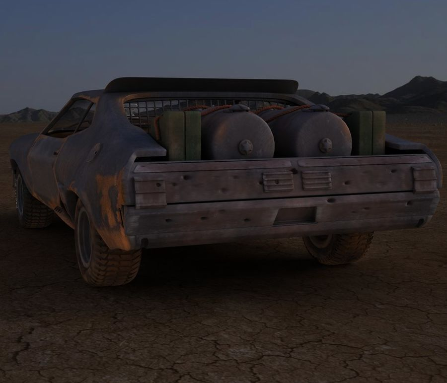 Mad Max Interceptor royalty-free 3d model - Preview no. 4