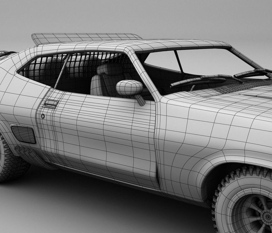 Mad Max Interceptor royalty-free 3d model - Preview no. 6