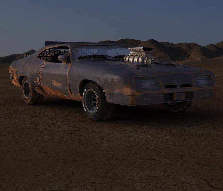 Mad Max Interceptor royalty-free 3d model - Preview no. 1