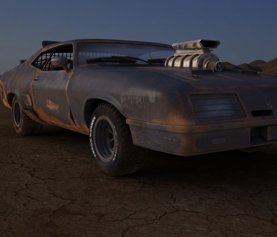 Mad Max Interceptor royalty-free 3d model - Preview no. 2