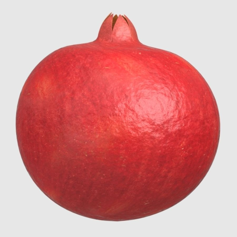 pomegranate royalty-free 3d model - Preview no. 3