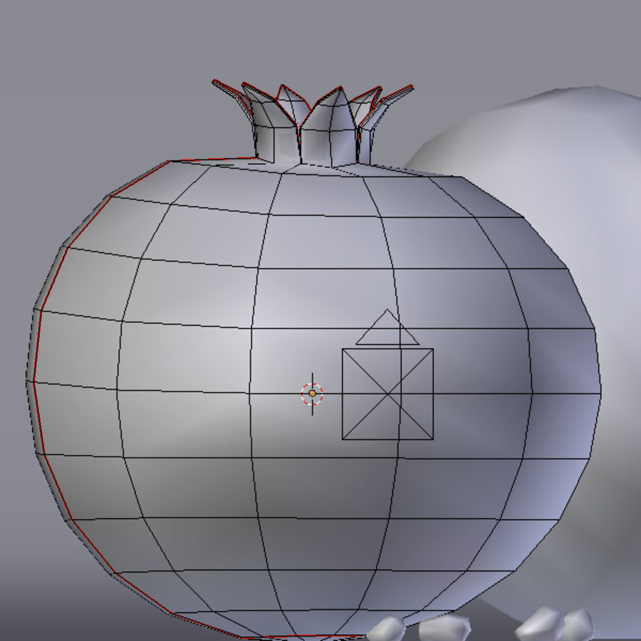 pomegranate royalty-free 3d model - Preview no. 5
