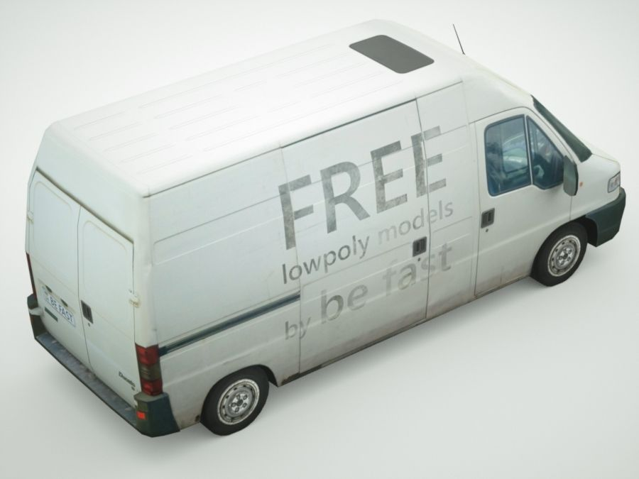 Fiat Ducato 1999 royalty-free 3d model - Preview no. 4