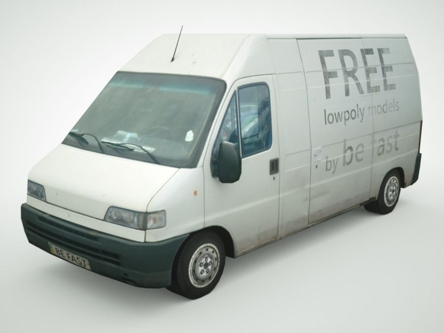 Fiat Ducato 1999 royalty-free 3d model - Preview no. 1