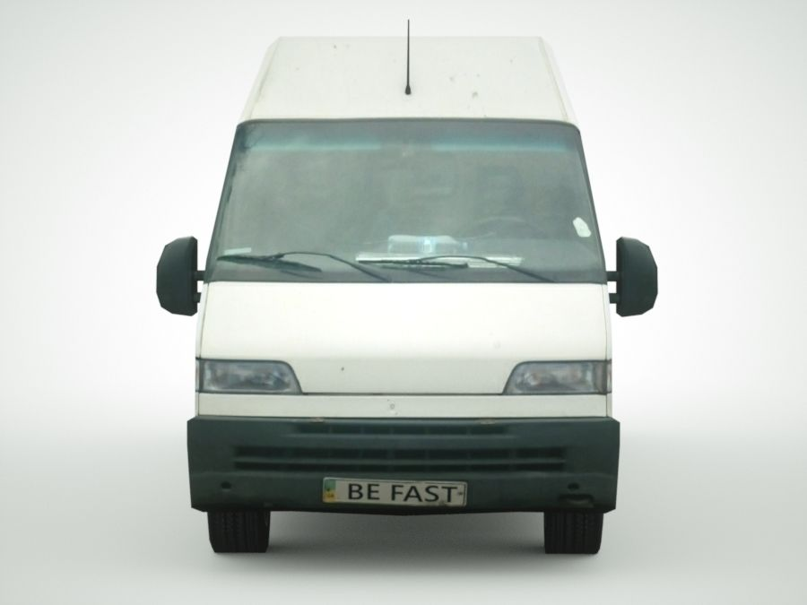Fiat Ducato 1999 royalty-free 3d model - Preview no. 6