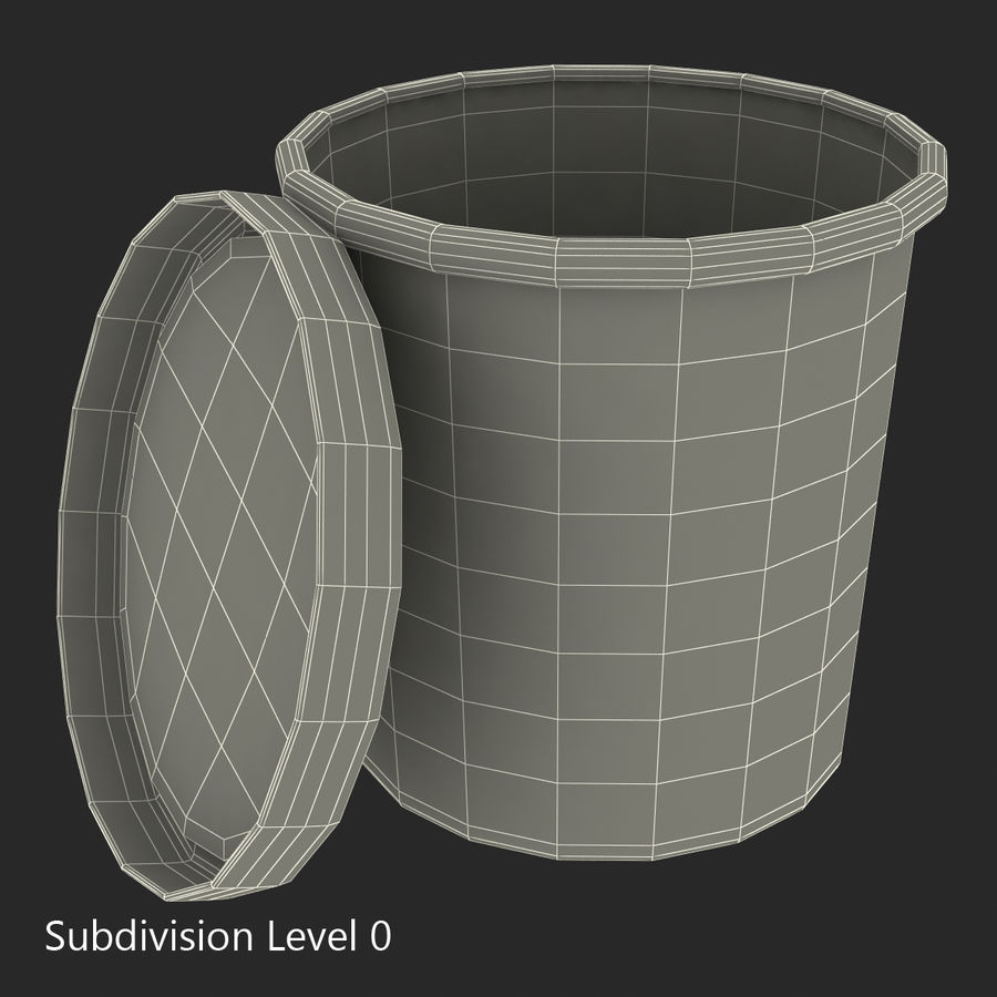 Ice Cream Pint Container royalty-free 3d model - Preview no. 11