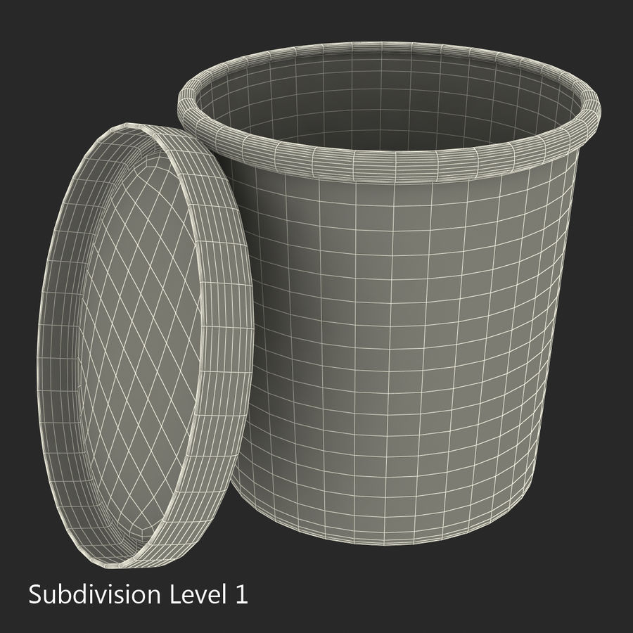Ice Cream Pint Container royalty-free 3d model - Preview no. 12
