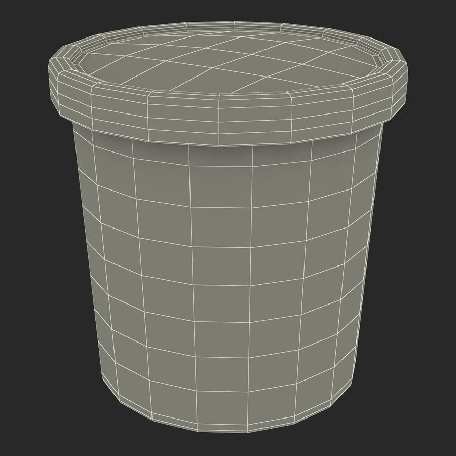 Ice Cream Pint Container royalty-free 3d model - Preview no. 16