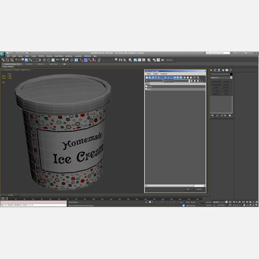 Ice Cream Pint Container royalty-free 3d model - Preview no. 15