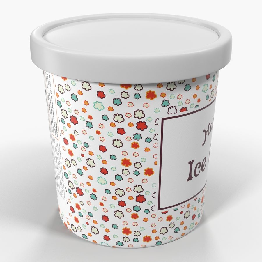 Ice Cream Pint Container royalty-free 3d model - Preview no. 6
