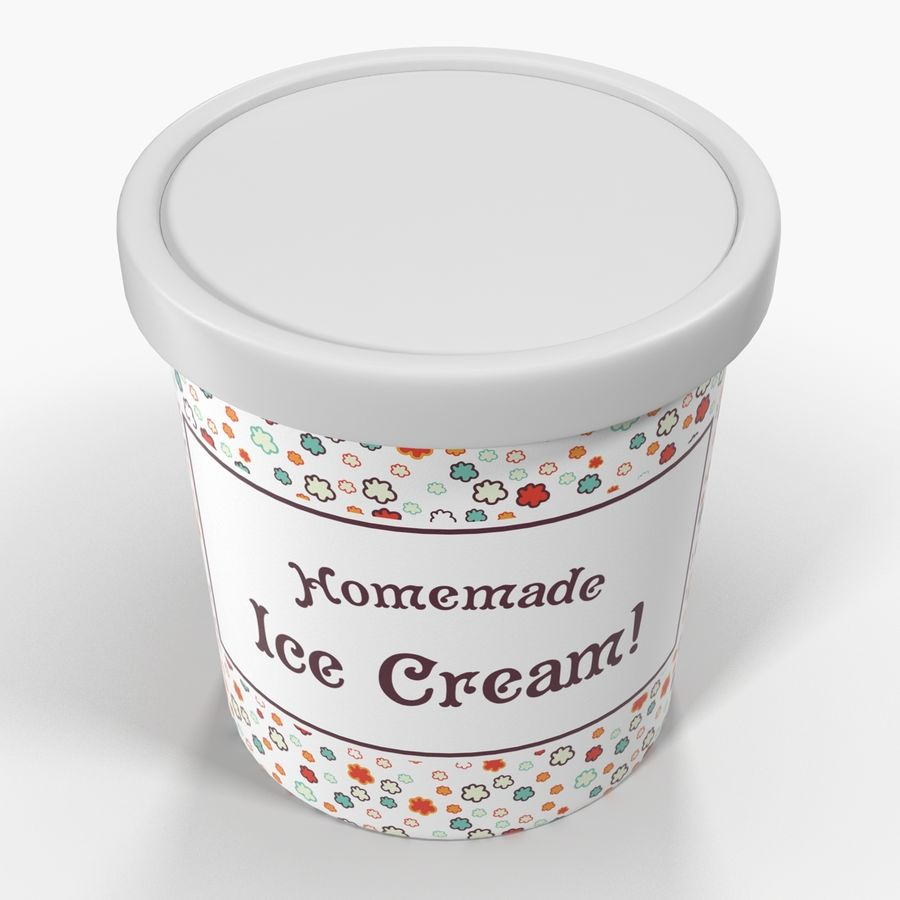Ice Cream Pint Container royalty-free 3d model - Preview no. 5