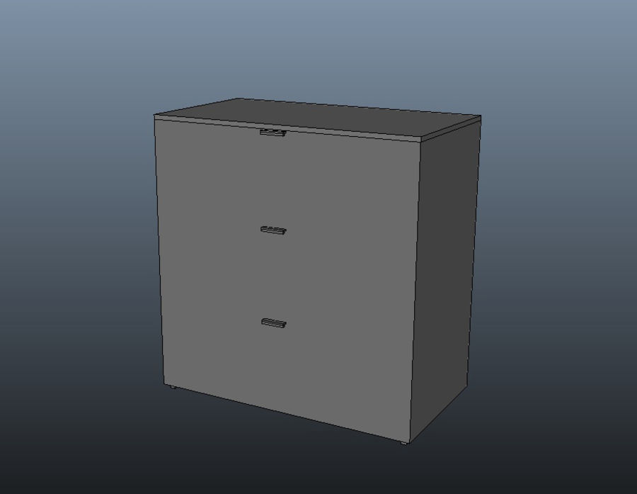 Chest of Drawers royalty-free 3d model - Preview no. 7